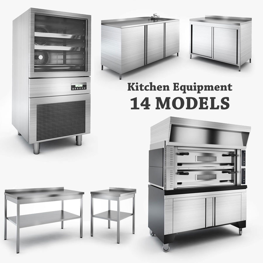 Kitchen Equipment royalty-free 3d model - Preview no. 1