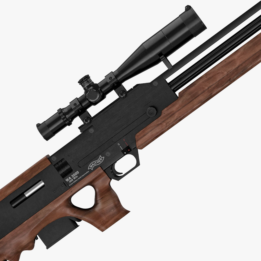 Walther WA 2000 royalty-free 3d model - Preview no. 4