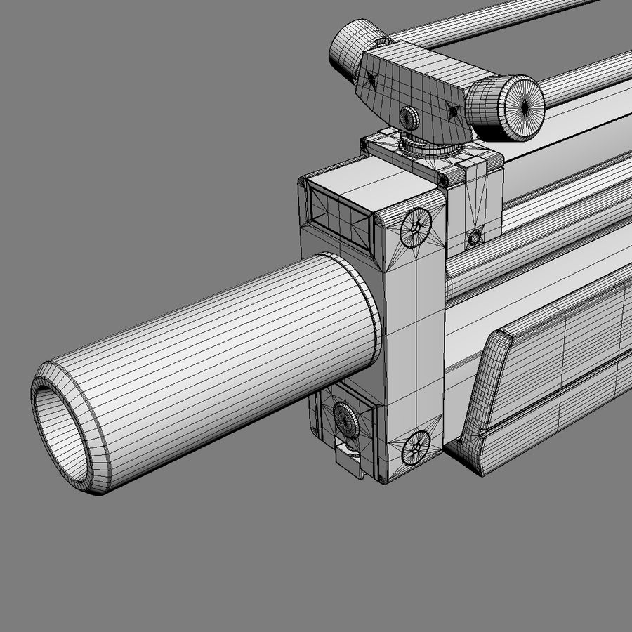 Walther WA 2000 royalty-free 3d model - Preview no. 13