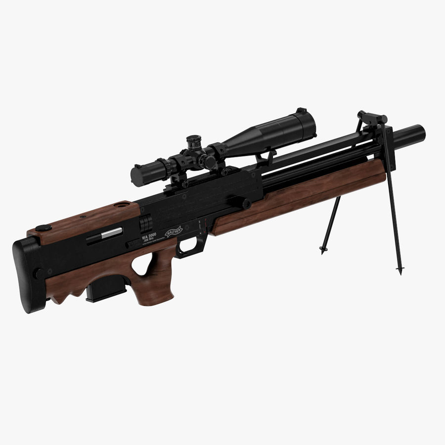 Walther WA 2000 royalty-free 3d model - Preview no. 3
