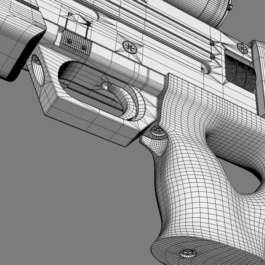Walther WA 2000 royalty-free 3d model - Preview no. 14