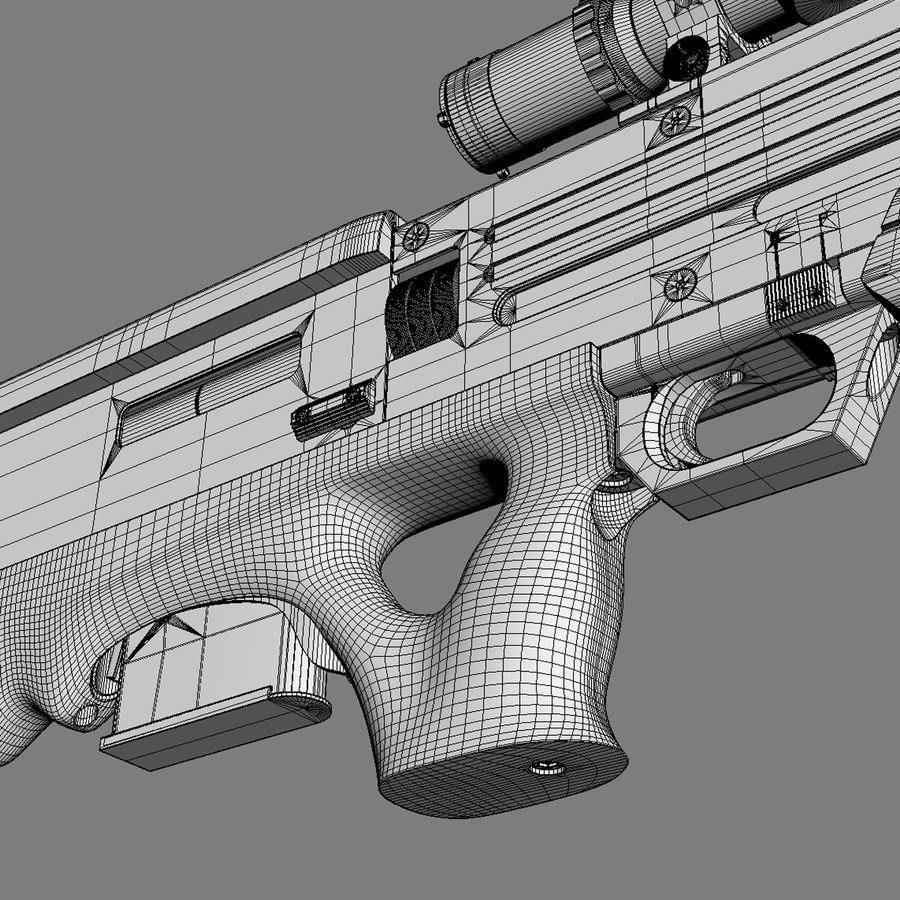 Walther WA 2000 royalty-free 3d model - Preview no. 15
