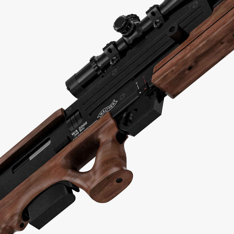 Walther WA 2000 royalty-free 3d model - Preview no. 5