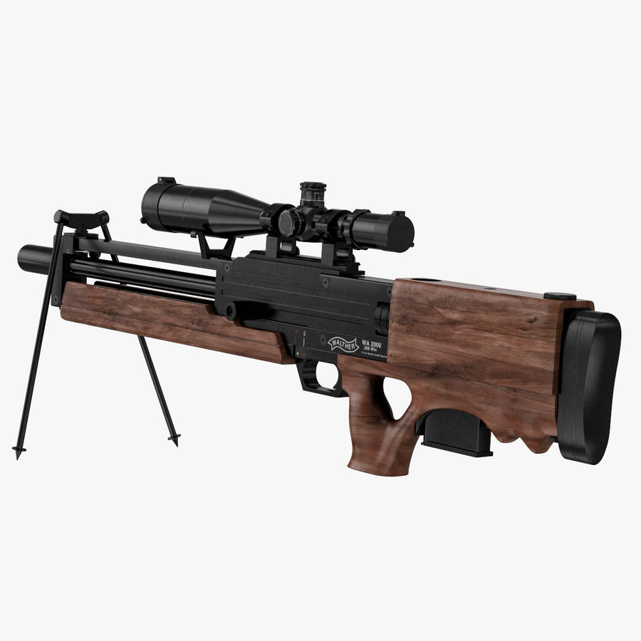 Walther WA 2000 royalty-free 3d model - Preview no. 8