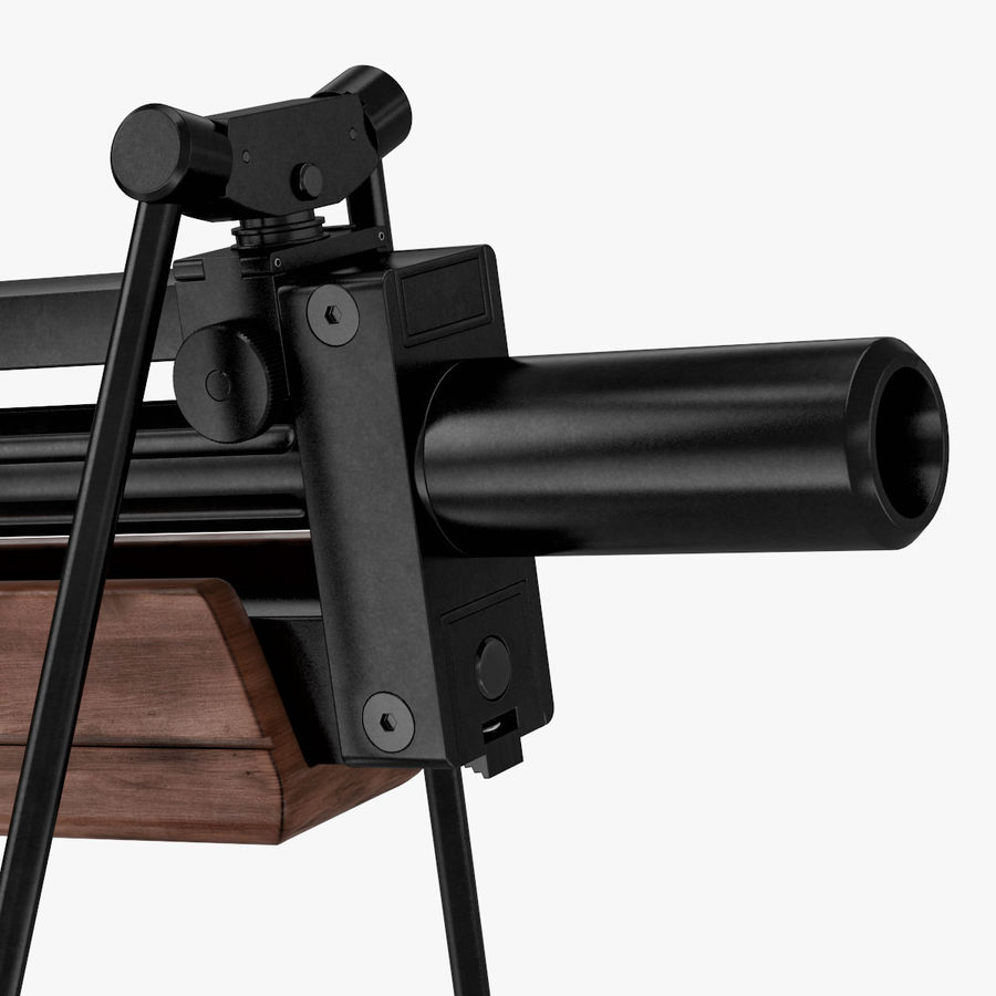 Walther WA 2000 royalty-free 3d model - Preview no. 7
