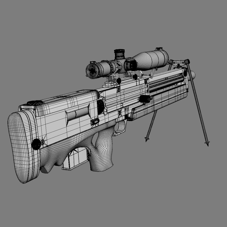 Walther WA 2000 royalty-free 3d model - Preview no. 17