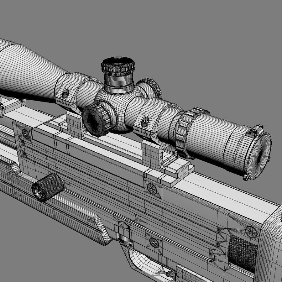 Walther WA 2000 royalty-free 3d model - Preview no. 11