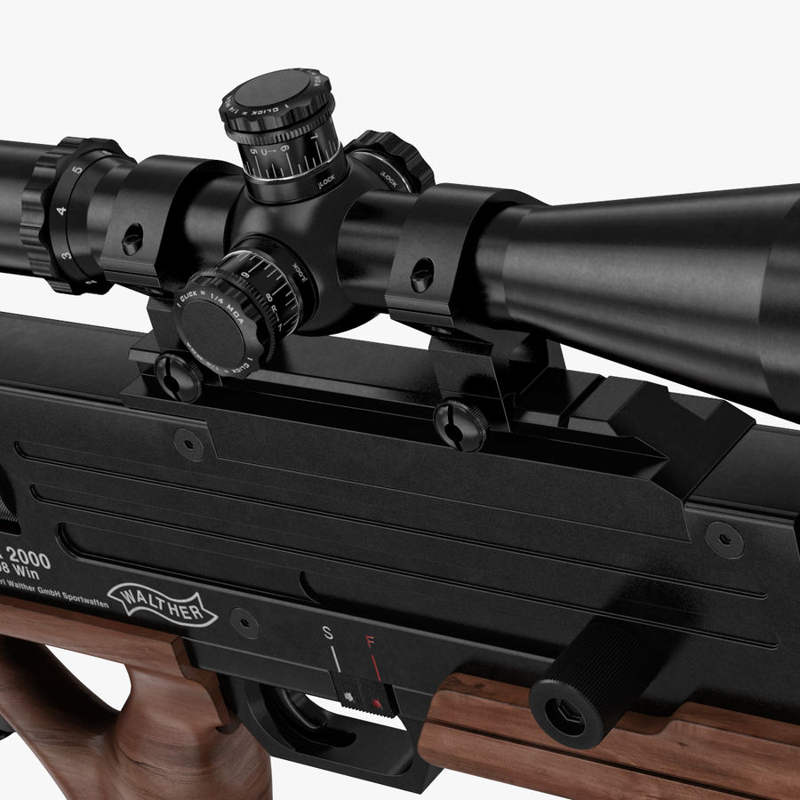 Walther WA 2000 royalty-free 3d model - Preview no. 6