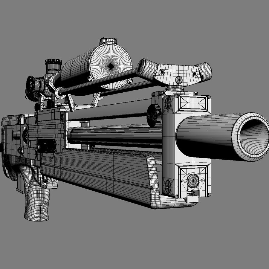 Walther WA 2000 royalty-free 3d model - Preview no. 16