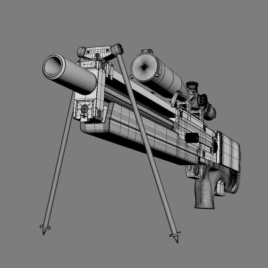 Walther WA 2000 royalty-free 3d model - Preview no. 18
