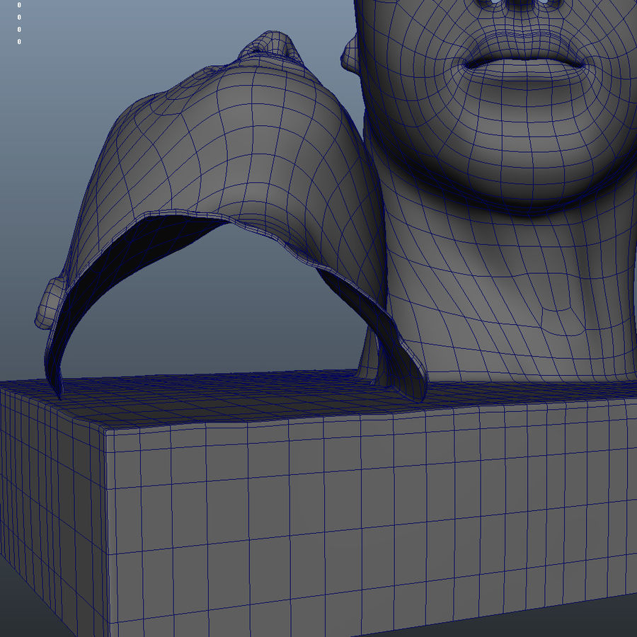 Face staty arkitektur royalty-free 3d model - Preview no. 9