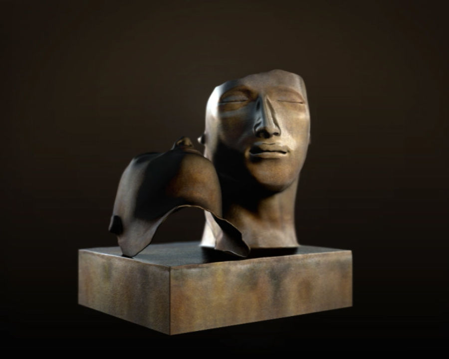 Face staty arkitektur royalty-free 3d model - Preview no. 6