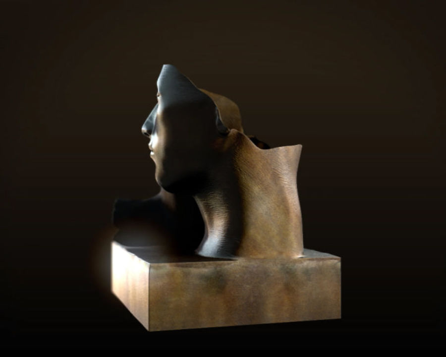 Face staty arkitektur royalty-free 3d model - Preview no. 3