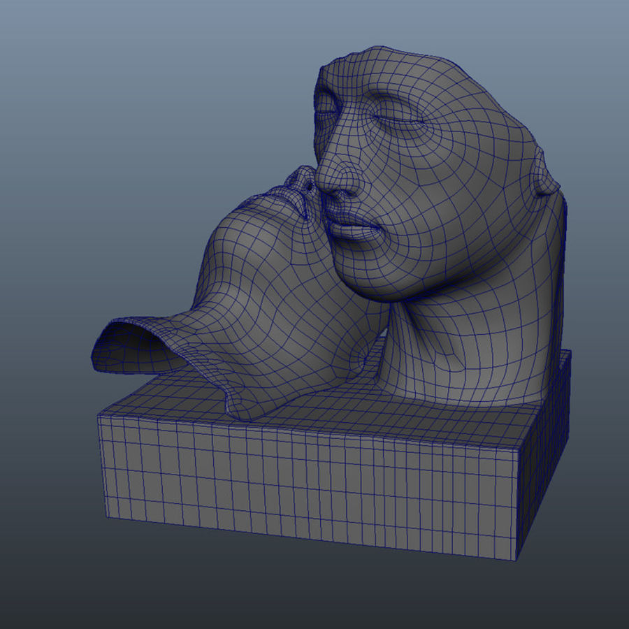 Face staty arkitektur royalty-free 3d model - Preview no. 8