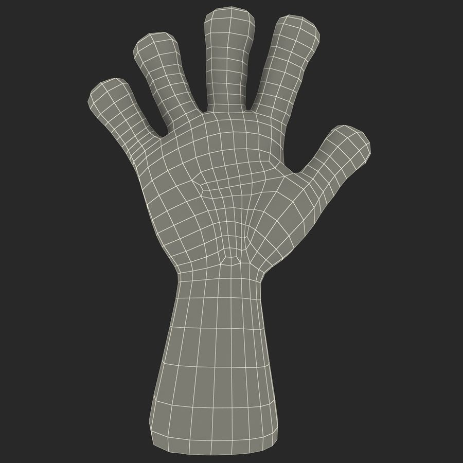 Cartoon Hand royalty-free 3d model - Preview no. 14