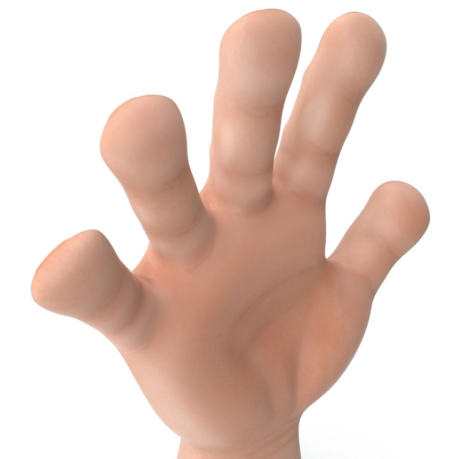 Cartoon Hand royalty-free 3d model - Preview no. 13