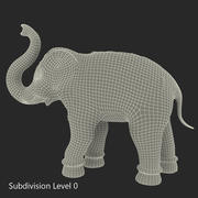 Brass Elephant Statue 3d model