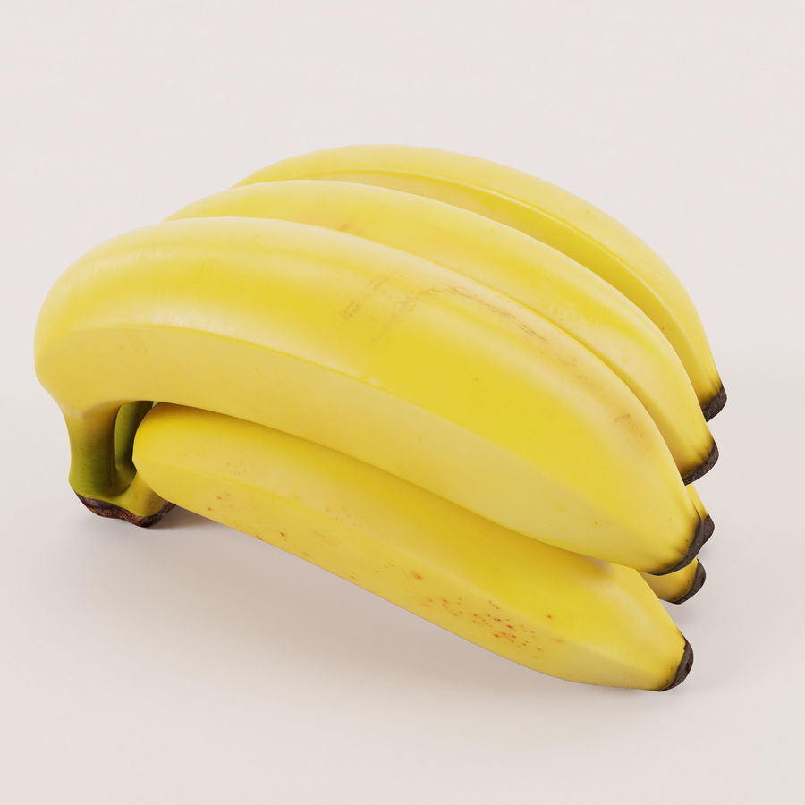 Banana Stem royalty-free 3d model - Preview no. 11