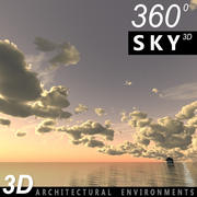 Sky 3D Sunset 035 3d model