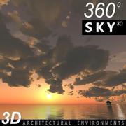 Gökyüzü 3D Günbatımı 034 3d model