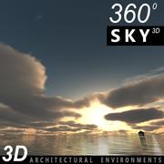 Sky 3D Sunset 019 3d model