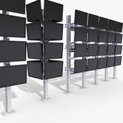 Mounted LCD Monitors Structure 3d model