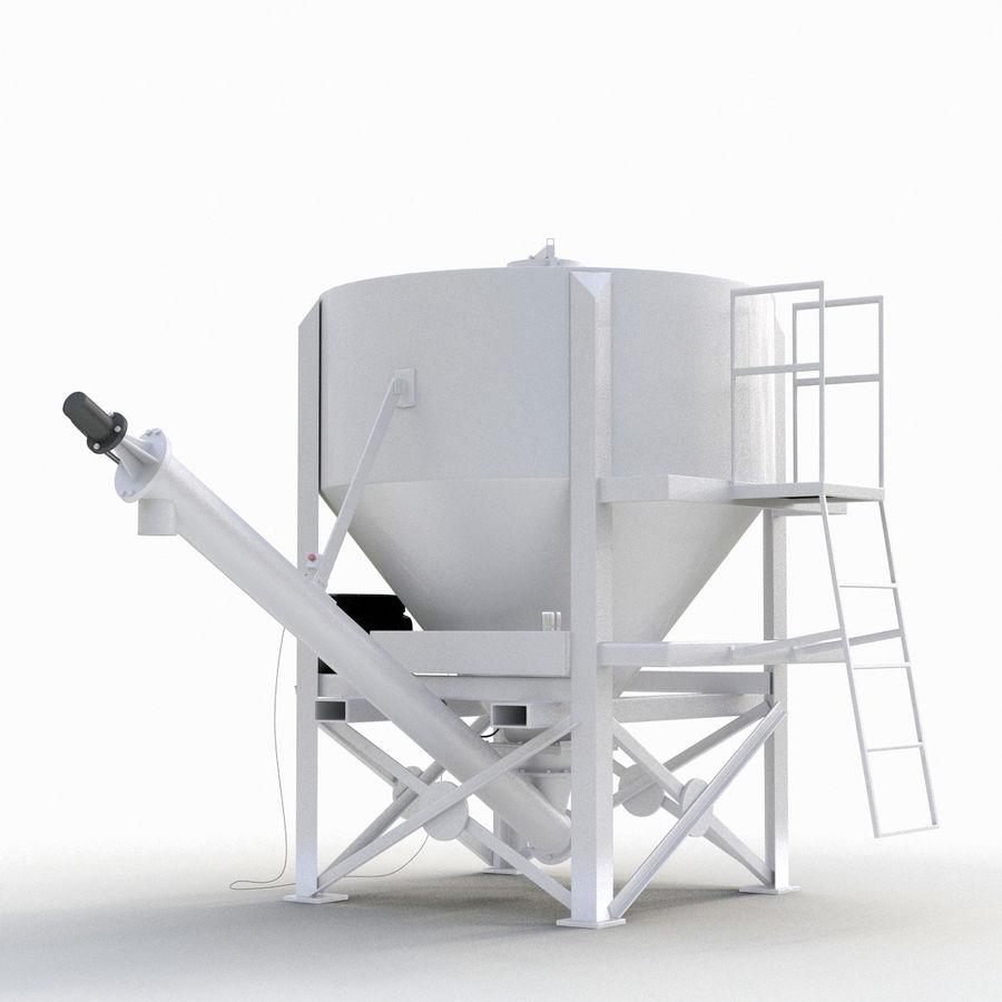 Bärbara Cement Silos royalty-free 3d model - Preview no. 4