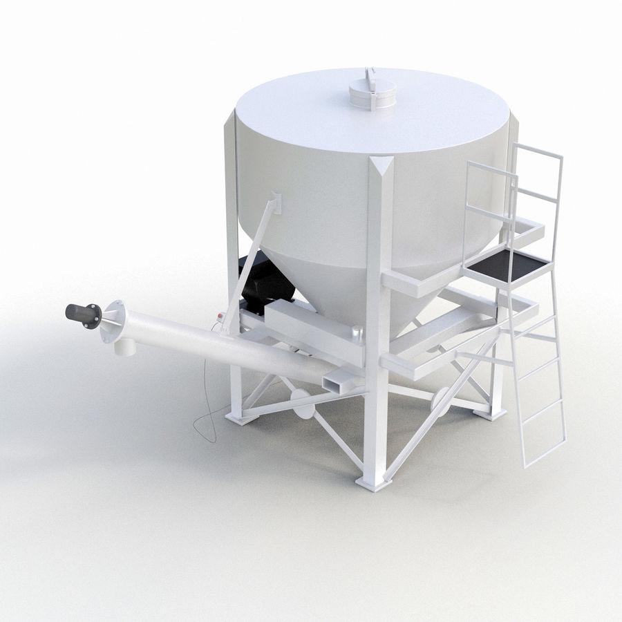 Bärbara Cement Silos royalty-free 3d model - Preview no. 7