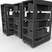 Armoire mobile en bois sur roues sport gymnase centre de remise en forme Gym Grand équipement équipement de tenue équipement outils entraînement engrenage entrepôt dépôt moderne 3d model