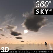 Sky 3D Sunset 059 3d model