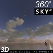 Sky 3D Sunset 002 3d model