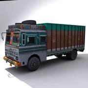 Indyjska ciężarówka z odmianami 3d model