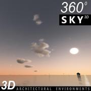 하늘의 3D 일몰 062 3d model