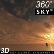 Gökyüzü 3D Günbatımı 006 3d model