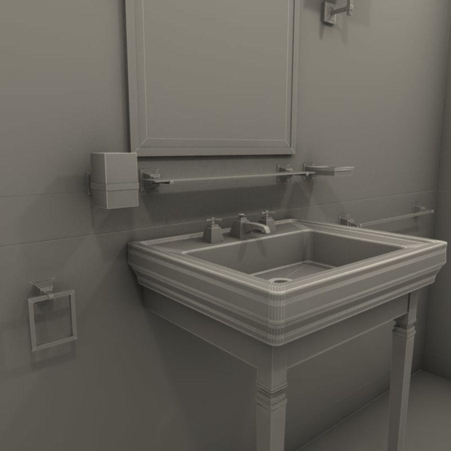 Badezimmermöbel und -einrichtungen royalty-free 3d model - Preview no. 4