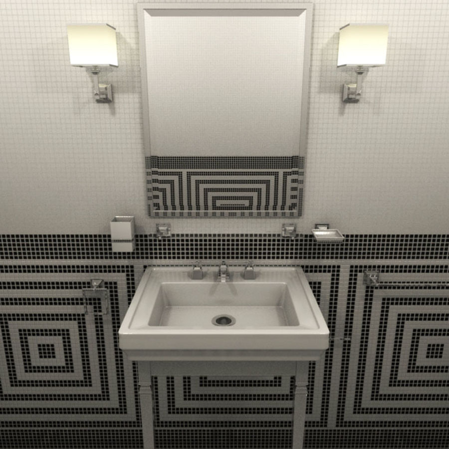 Badezimmermöbel und -einrichtungen royalty-free 3d model - Preview no. 1