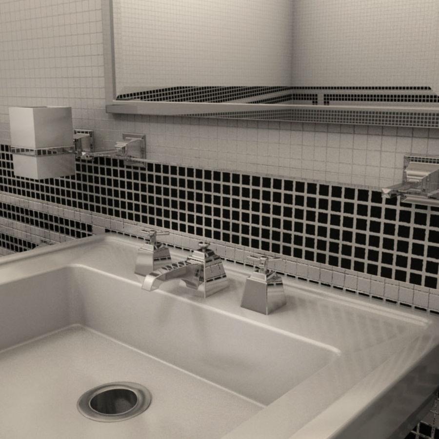 Badezimmermöbel und -einrichtungen royalty-free 3d model - Preview no. 3
