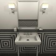 Bathroom set furniture and fixtures 3d model
