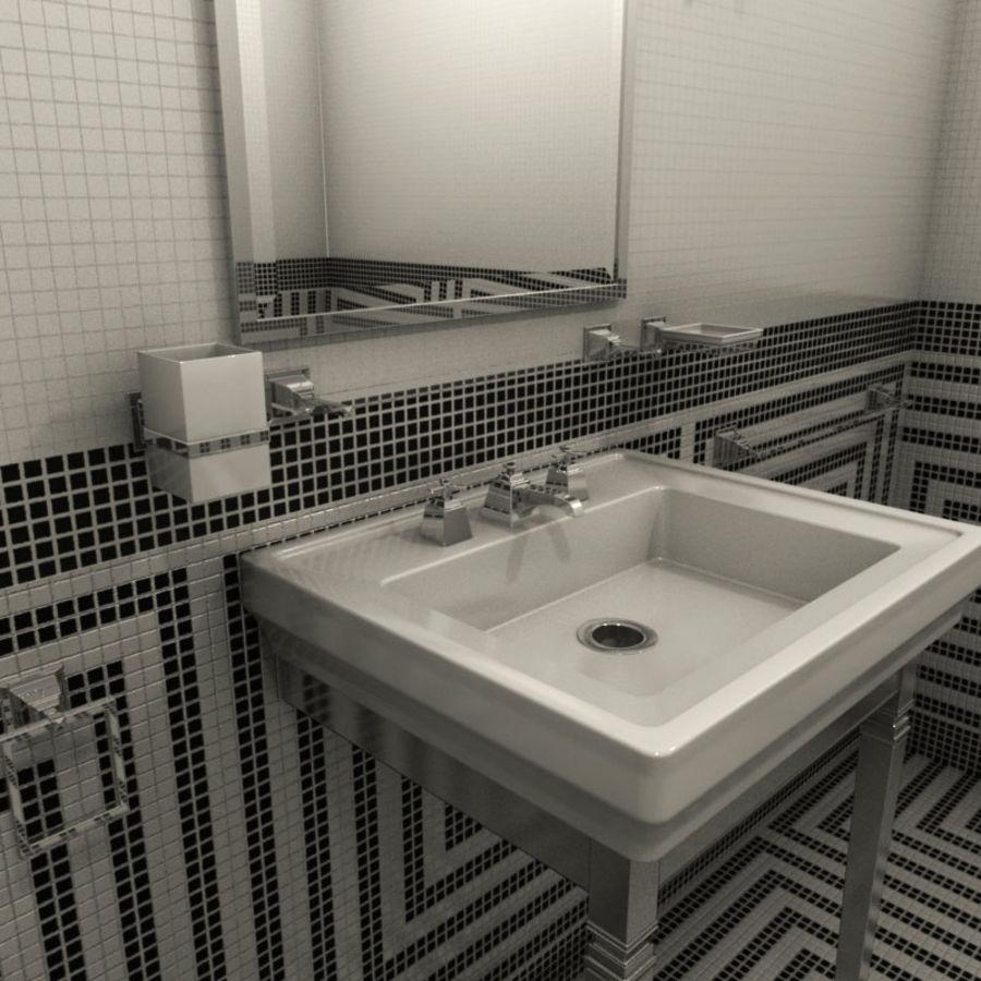 Badezimmermöbel und -einrichtungen royalty-free 3d model - Preview no. 2