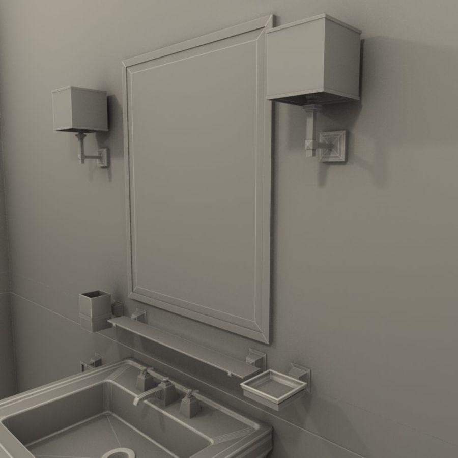 Badezimmermöbel und -einrichtungen royalty-free 3d model - Preview no. 5
