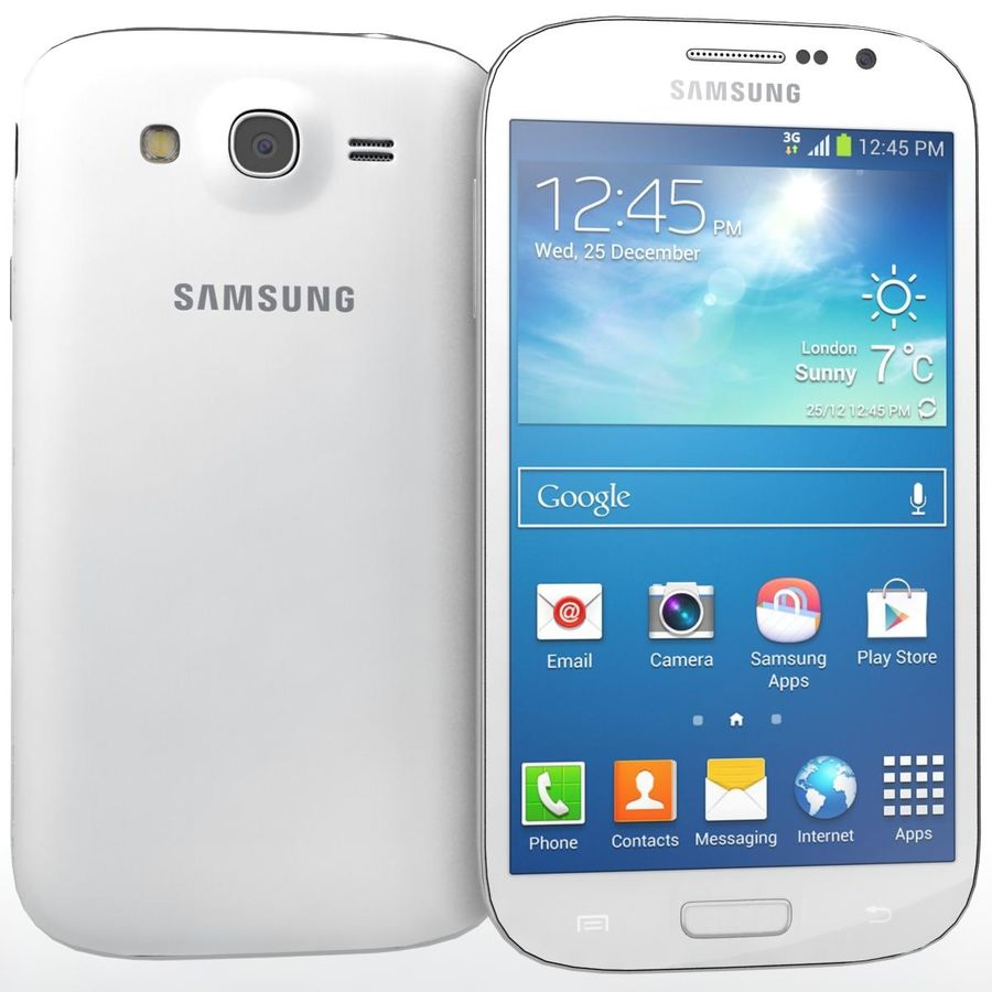 Sumsung Galaxy Grand Neo White royalty-free 3d model - Preview no. 1