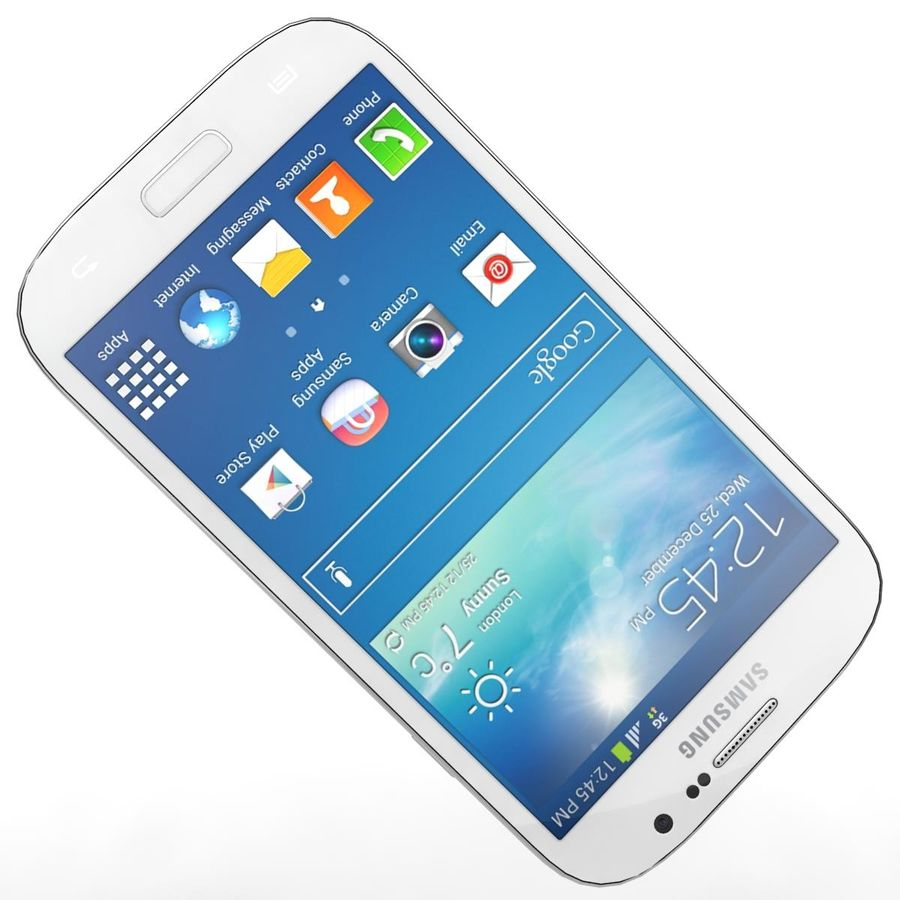 Sumsung Galaxy Grand Neo White royalty-free 3d model - Preview no. 16