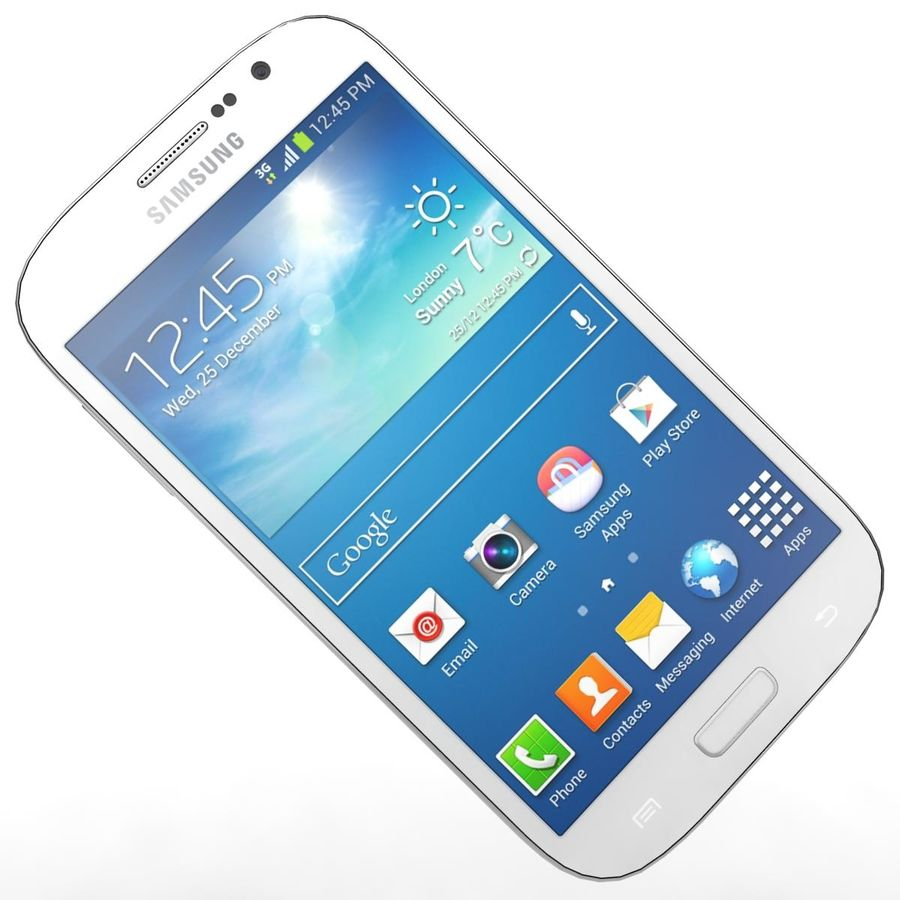 Sumsung Galaxy Grand Neo White royalty-free 3d model - Preview no. 18