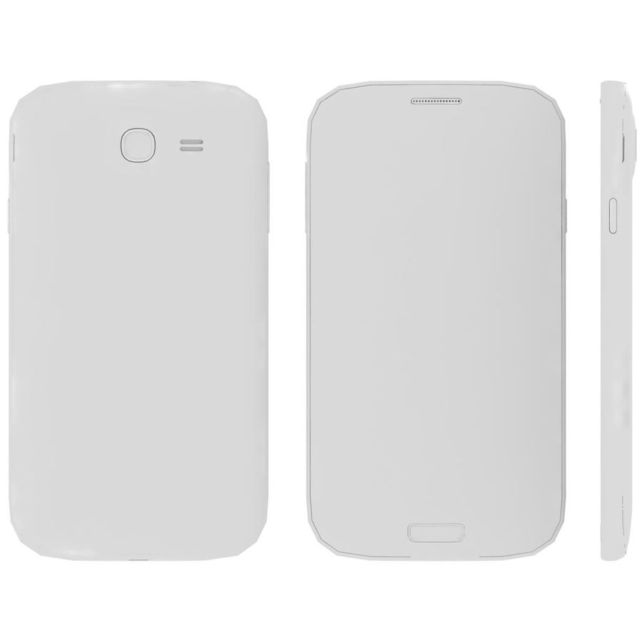 Sumsung Galaxy Grand Neo White royalty-free 3d model - Preview no. 24