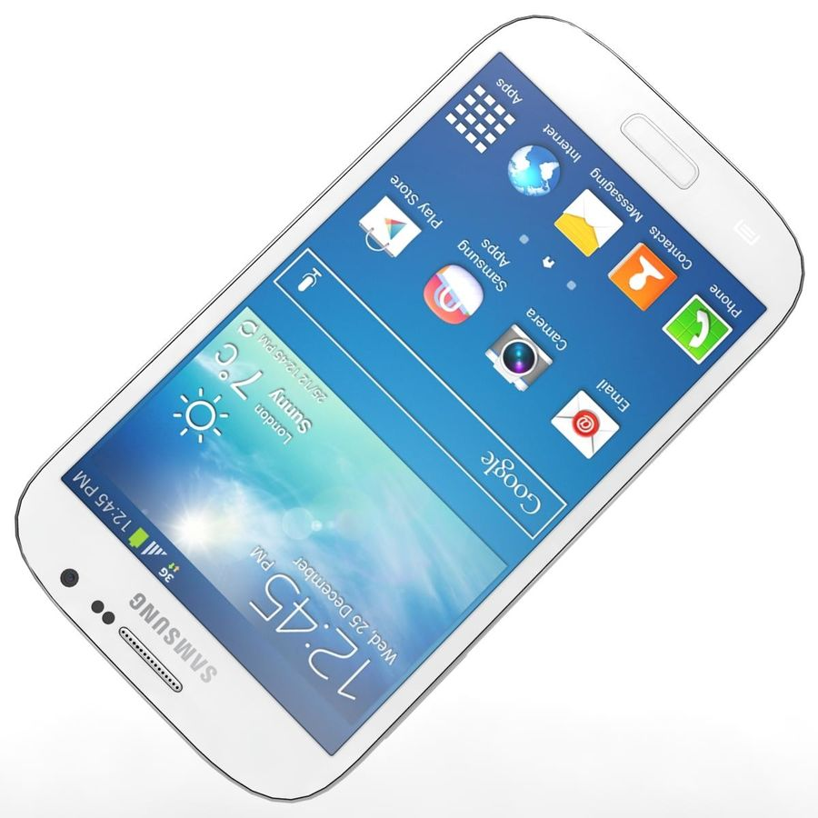 Sumsung Galaxy Grand Neo White royalty-free 3d model - Preview no. 17