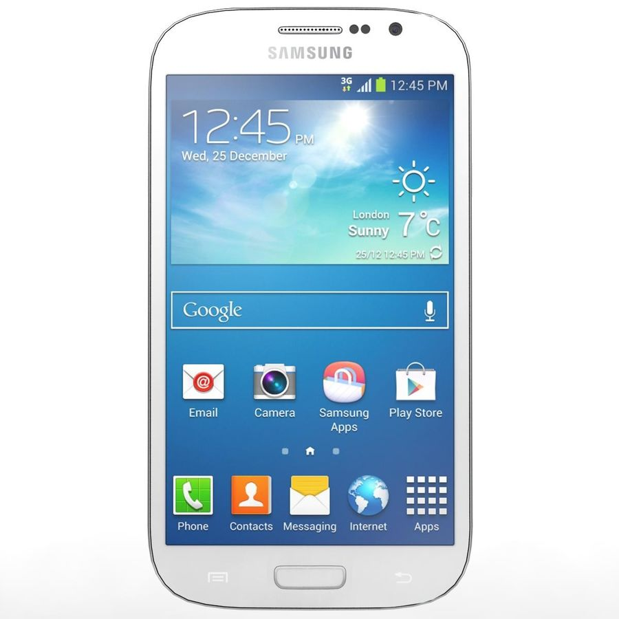 Sumsung Galaxy Grand Neo White royalty-free 3d model - Preview no. 6