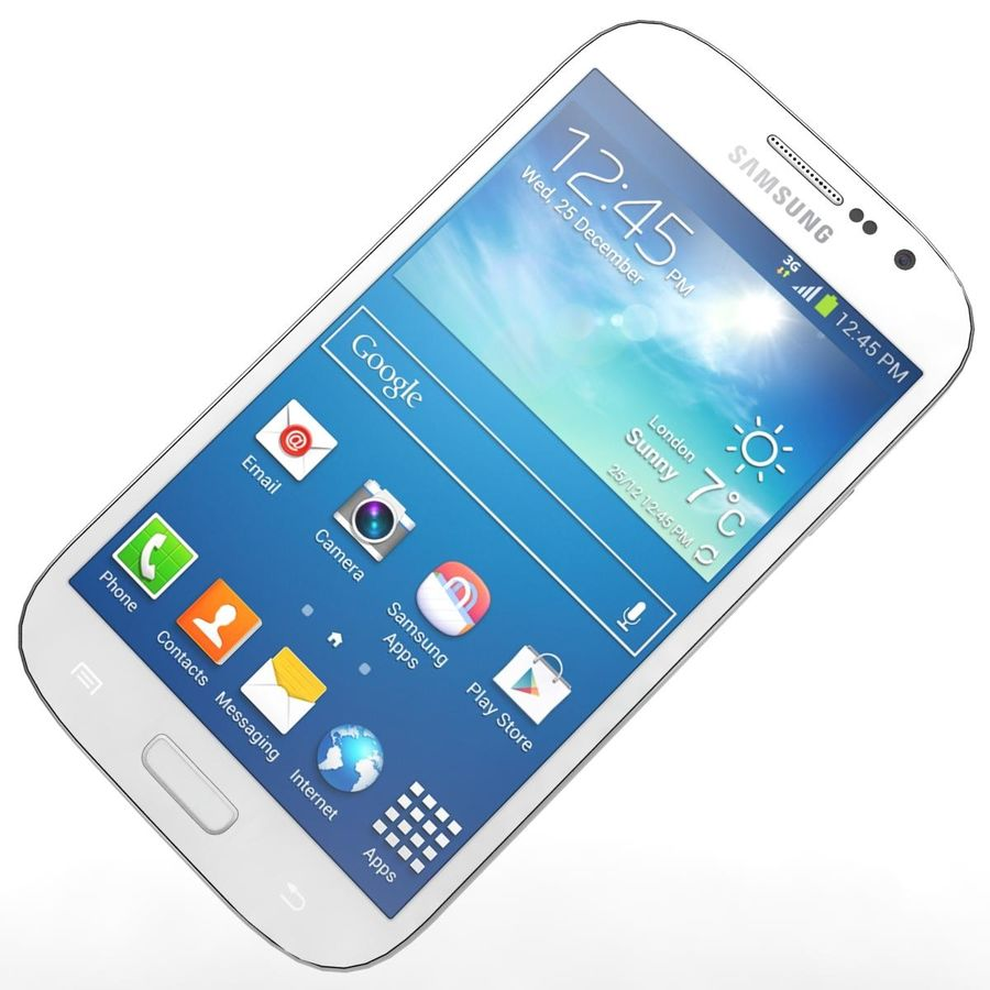 Sumsung Galaxy Grand Neo White royalty-free 3d model - Preview no. 15