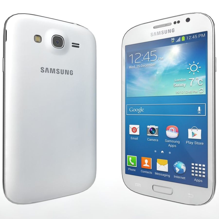 Sumsung Galaxy Grand Neo White royalty-free 3d model - Preview no. 4