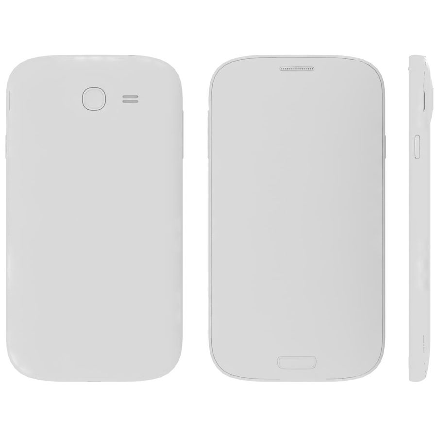 Sumsung Galaxy Grand Neo White royalty-free 3d model - Preview no. 26
