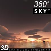 하늘의 3D 일몰 058 3d model